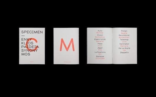 Jung + Wenig/MilieuGrotesque: Chapeau Specimen / Collate #magazine #print #orange #journal