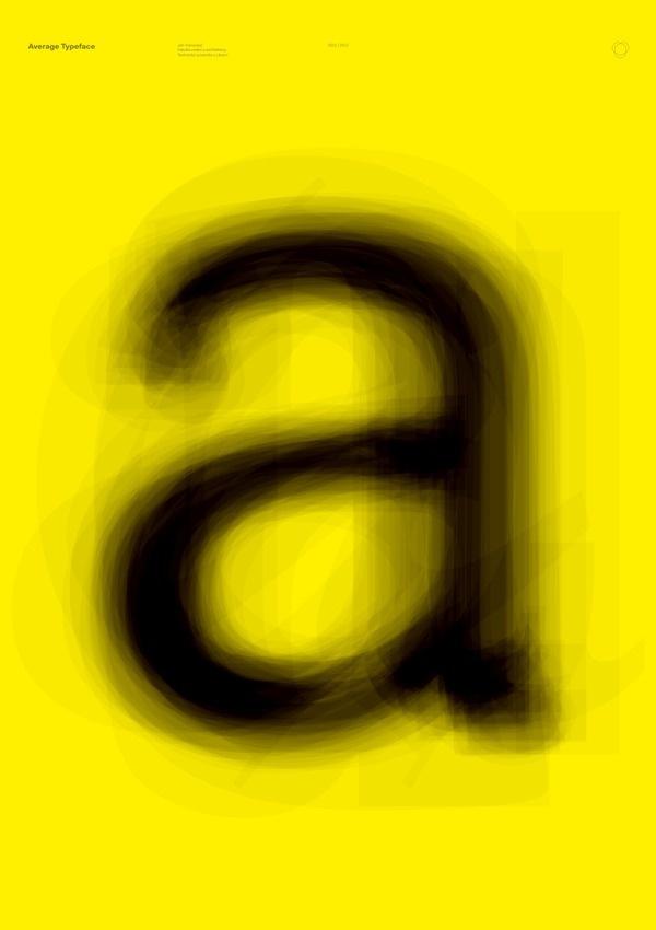 Average Typeface #yellow #poster #average #experiment #typography