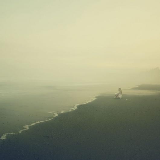La Lettre de la Photographie #fog #self #photography #portrait #beach