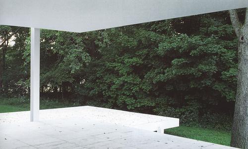 on something, onsomething Mies van der Rohe | Farnsworth House #green