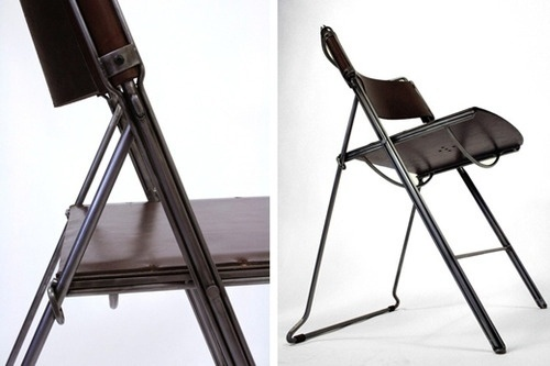 CONVOY #chair #design #furniture #leather #metal