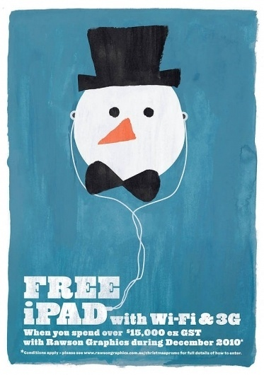 Recent work '11 on the Behance Network #christmas #snowman #xmas