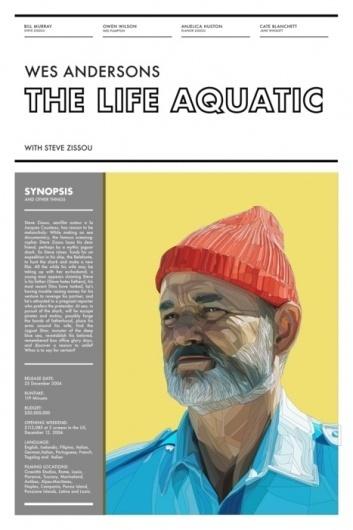 Steve Zissou - a classic kind of dude #wes #anderson #the #poster #futura #aquatic #life