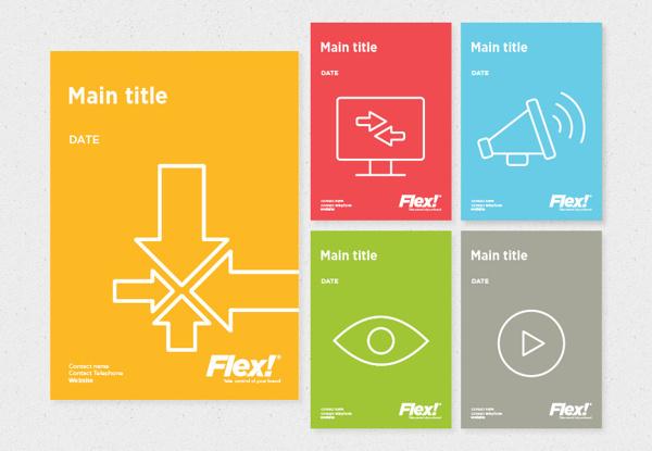 FLEX!® Take control of your brand on Behance #branding #print #identity #logo #flex