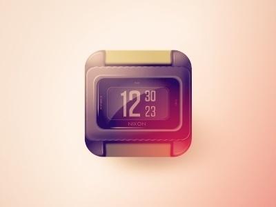 FFFFOUND! | Dribbble - Nixon #icon #design #watch