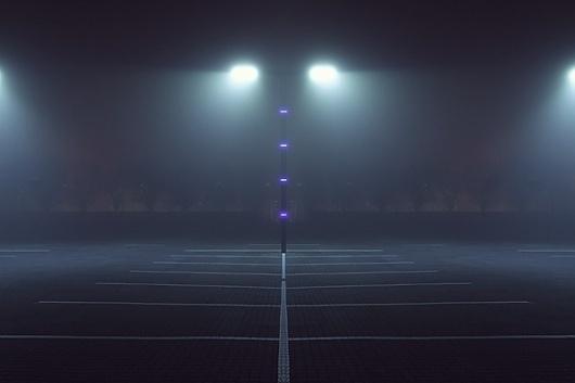 Majestics #fog #lights #night #photography #purple