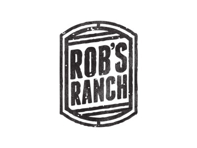 Dribbble - Rob's Ranch by Jacob Weaver #sauce #rob #design #ranch #identity #vintage #logo #typography