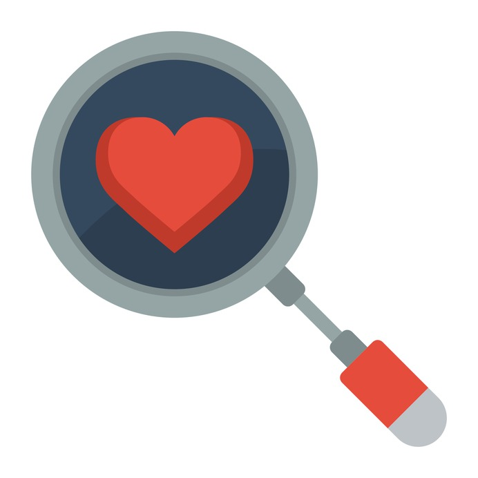 See more icon inspiration related to search, love, dating app, love and romance, loupe, valentines day, magnifying glass and heart on Flaticon.