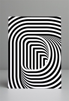FFFFOUND! | P02.jpg (JPEG Image, 275x400 pixels) #optical #illusion #dimension #typography