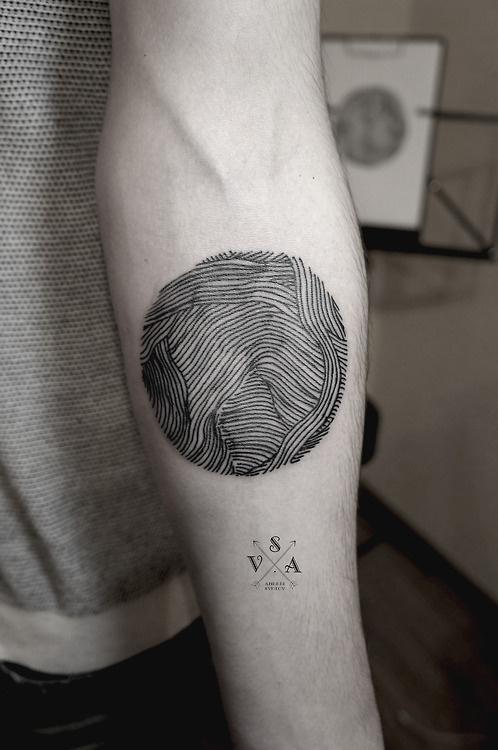 SV.A #circle #tattoo #line