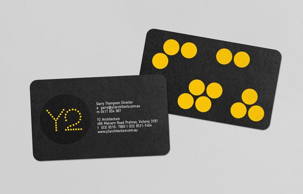 Client List #business #card #yellow #bold #circles #black #clean