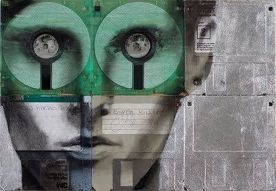 The Collective Loop #nick #floppy #gentry #portrait #disks #poster #art