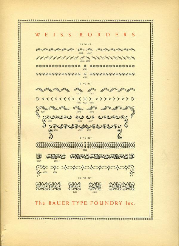Weiss Borders type specimen #type #specimen