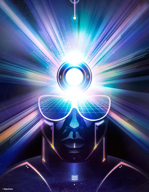 Creator Signalnoise The art of James White #jameswhite #signalnoise #shine #colors #glow #shades #radialshine