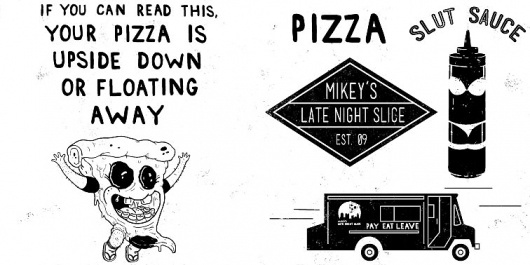 Patrick Moore - DESIGN #food #logo #illustration #pizza #type