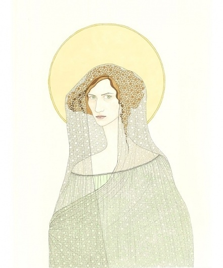 Athena Icon by kristinebarrett on Etsy #illustration