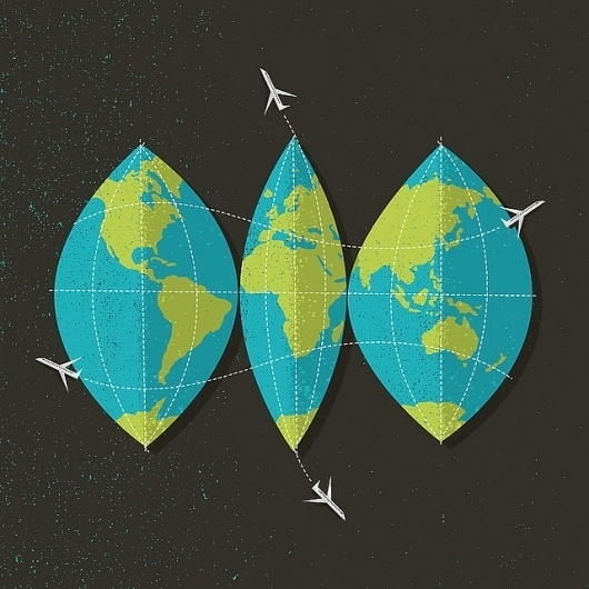 Flickr: brentcouchman's Photostream #globe #world #travel #map #texture #illustration