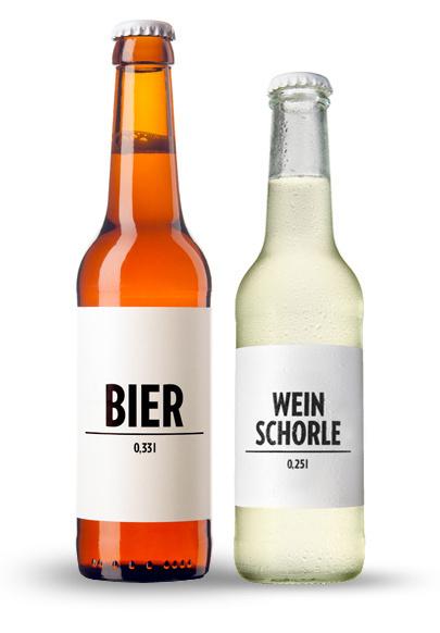 BIER & WEINSCHORLE – Geschmack braucht keinen Namen #beer #packaging #wine #clean #minimal