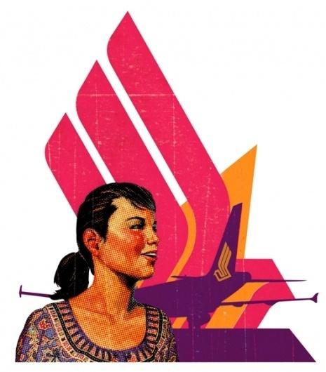 TAVIS COBURN - Singapore Airlines #illustration