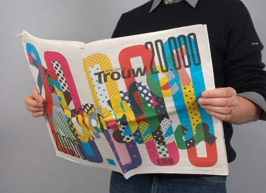 Niessen & de Vries – Work #colourful #trouw #wrap #newspaper #typography