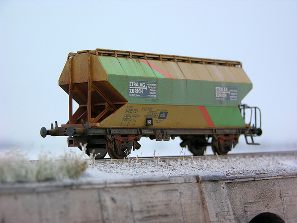 1:87 H0 Roco Silowagen SBB Etra (1) #train #model #diorama #photography #railway #miniature