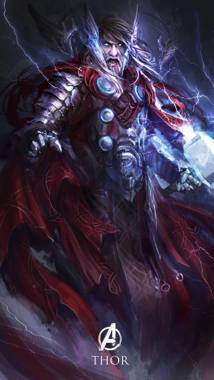 Best Redesign Superheroes of Thor #character design #superheroes #Digital Art