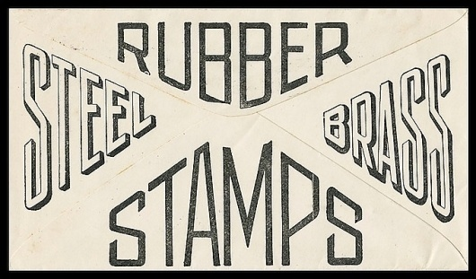 Northwestern Stamp Works | Sheaff : ephemera #steel #rubber #stamps #envelope #brass #typography