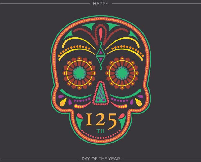 yearofbirthdays.com #year #birthdays #of #de #illustration #cinco #skull #custom #type #mayo #typography