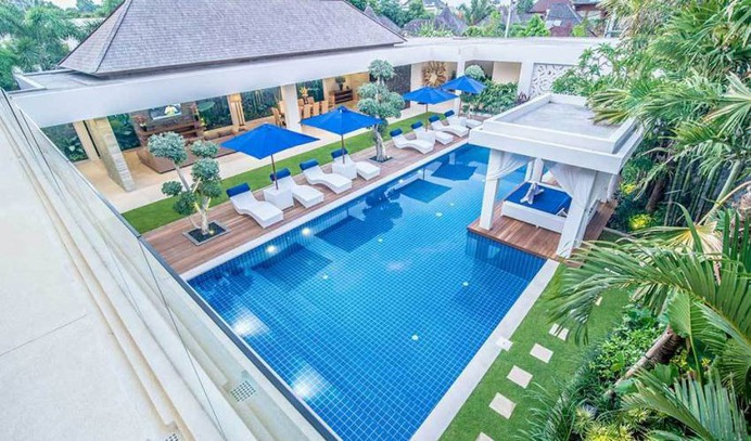 This 5 bedroom luxury family villa located in the chic Seminyak precinct of Petitenget, the villa is a brand new contemporary villa offering five spacious guest suites, luxurious indoor outdoor living features, surrounding a large pool and landscaped grounds.