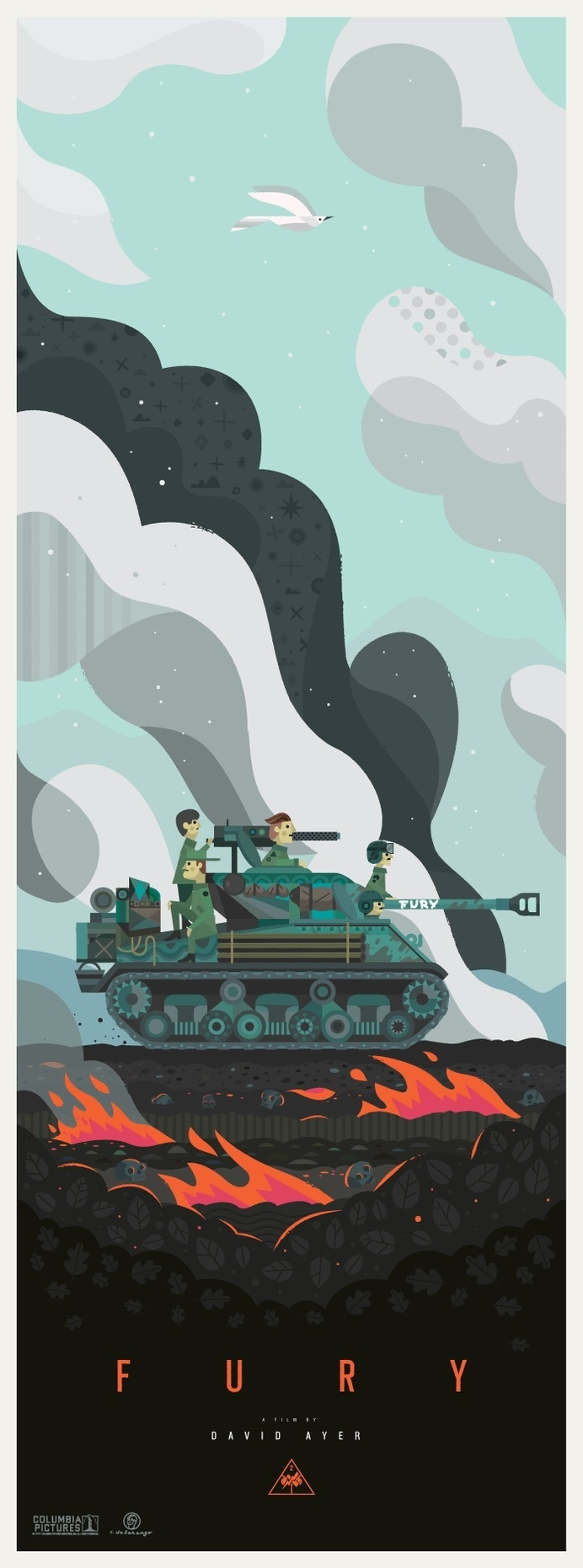 Fury Movie Poster (2014) #design #graphic #fury #illustration #poster