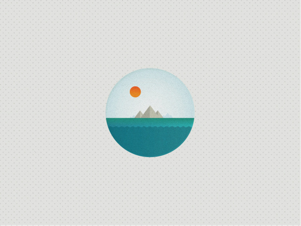 The Big Wide Word Icon set on Behance #texture #ocean #icon #sun #boat #lighthouse #illustrator #shape #iconset #pin badge
