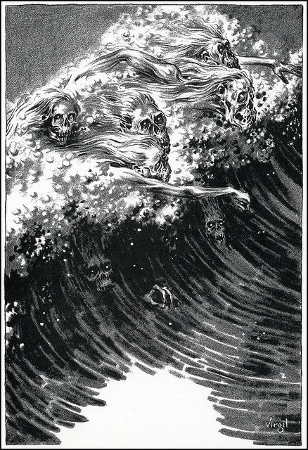 Virgil Finlay #ghost #horror #wave