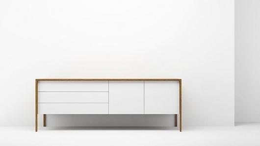 » Split Time Clock #white #design #cabinet #wood #industrial