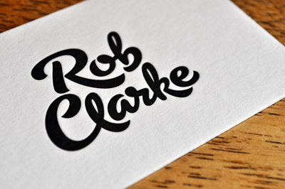 Rob Clarke Typography #clarke #rob #lettering #script #typography