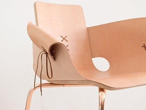 Laceup Leather Shoemaker Chair #chairs #chair #furniture #leather #deisgn