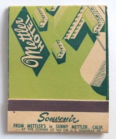 Giant Feature Matchbook Souvenir Mettler by albrechtsantiques #hotel #souvenir #map #matchbook