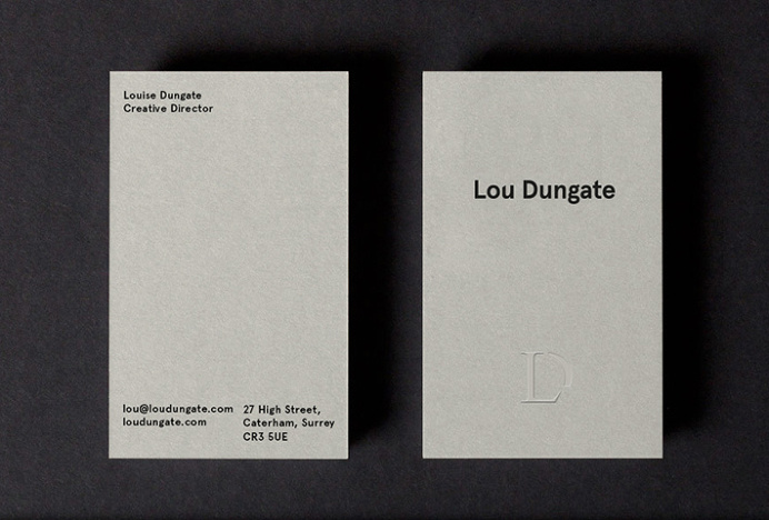 Lou Dungate by Surface and Form #logotype #logo #typography #business card #print