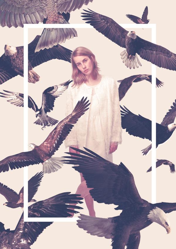 Queens on Behance by Quentin Deronzier #girl #photo #birds #aigles #eagles