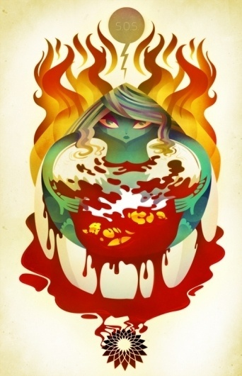 lerms: illustration | Featured Work #sos #commentary #poster #spill #oil