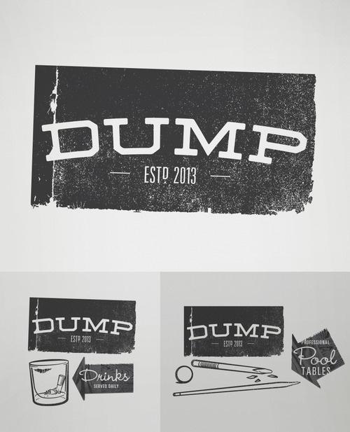 personal, logo, bar, Dump, rough,