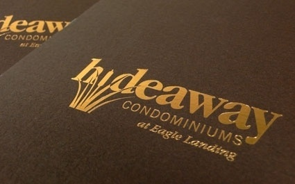 Blend: Work:: Hideaway Condominiums: Branding, Brochure, Signage, Website, Sales Center #logo #print