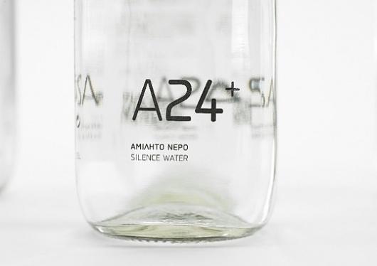 A24+ Silence Water   Bloggokin.it #packaging #label #simple #glass #minimal #minimalist
