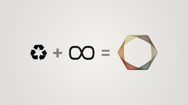 Advance Nonwoven - Identity on the Behance Network #logo #infinity #identity #recycle