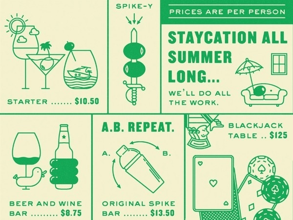 Spike y #spirits #infographic #cocktail #illustration