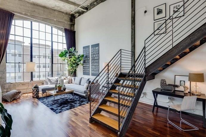 Live/Work Conversion Loft in San Francisco With Vaulted Concrete Ceilings #apartment #loft #concrete ceilings