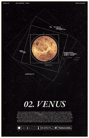 Venus - Under the Milky Way - Ross Berens #venus #space #posters #typog #planets #typography