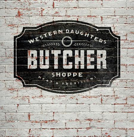 Modern Vintage Logo For Butcher Shop Once New Vintage In