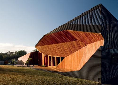 Letterbox House in Australia by McBride Charles Ryan #wood #sharp #angular