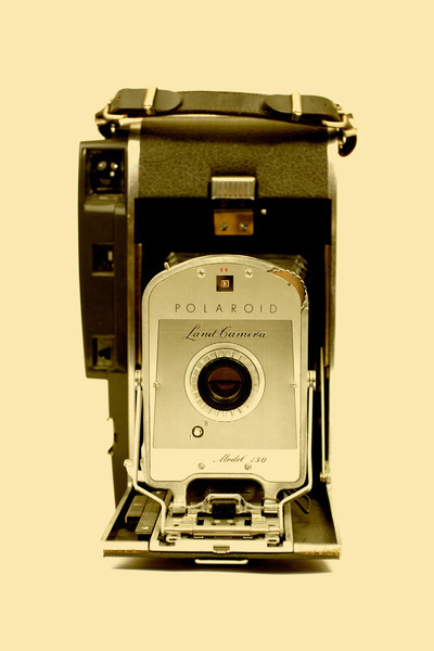 Polaroid Land Camera Model 150 Art Print #cool #old #camera #print #design #retro #land #unique #photography #vintage #art #studio #society6 #antique #new