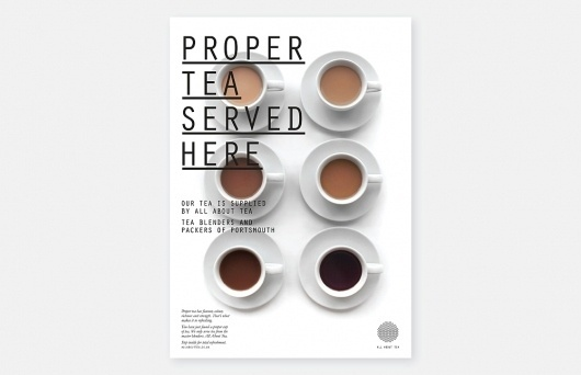 Moving Brands – All About Tea | September Industry #type #tea #swiss #poster